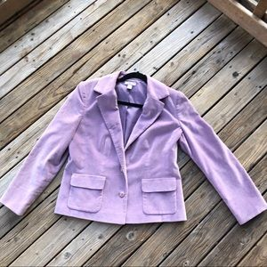Lilac lined Blazer Jacket Nordstrom Size 10P